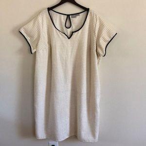 eShakti cream-colored bubble dress